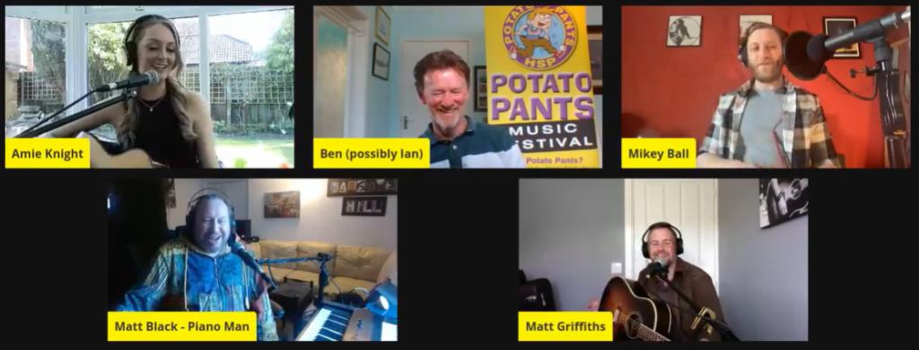 Amie Knight, Mikey Ball, Matt Griffiths and Matt Black entertained us with Ian Bennett as host.