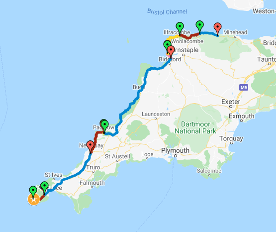 1000 mile challenge week 1 route